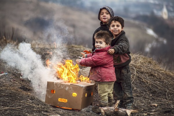 children-fire-poverty-boys-grubby-smile-happiness-heat-are-heated-box-children-kids-flame-poor-warm-boys-smile-happiness-box