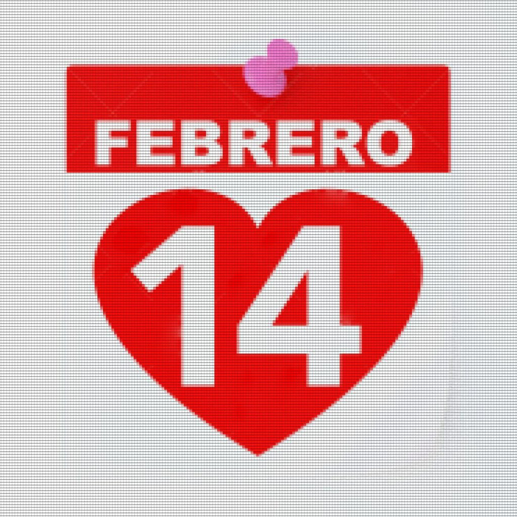 14 February Calendar on White Background. Isolated 3D image